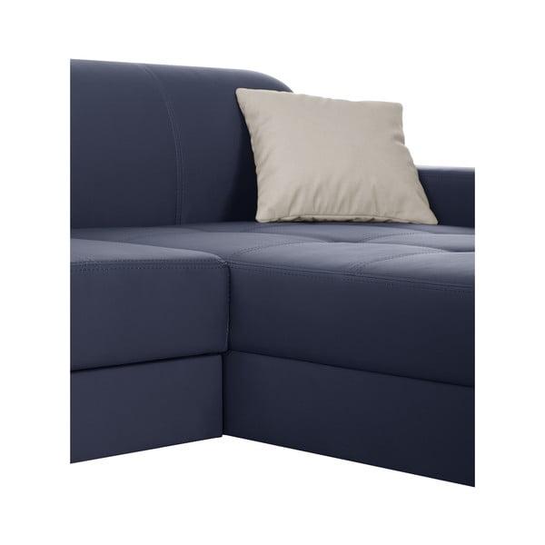 Modrá pohovka Modernist Symbole, pravý roh