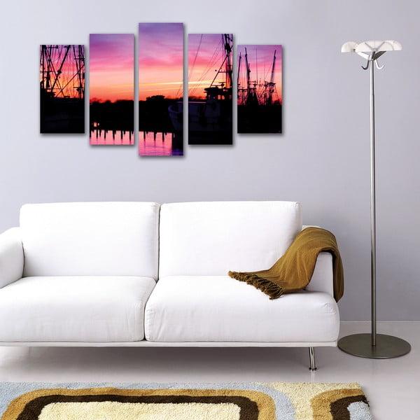 5dílný obraz Během západu slunce
