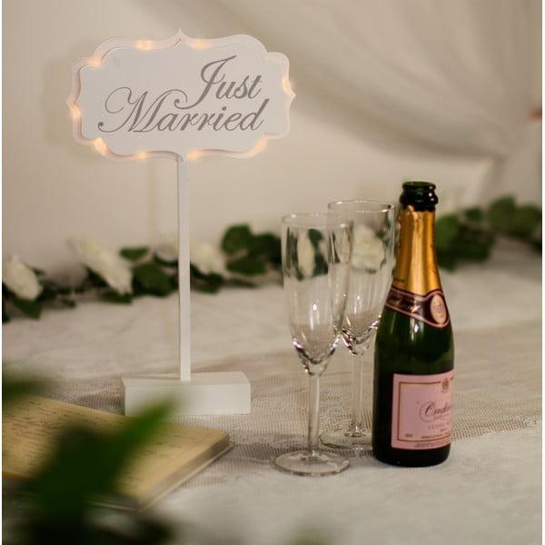 Svatební dekorace na stůl s LED světly Married