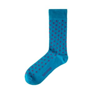 Modré ponožky Black&Parker London Hinton Ampner, velikost 37 – 43