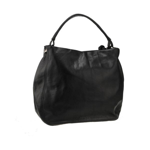 Kožená kabelka Agena, černá