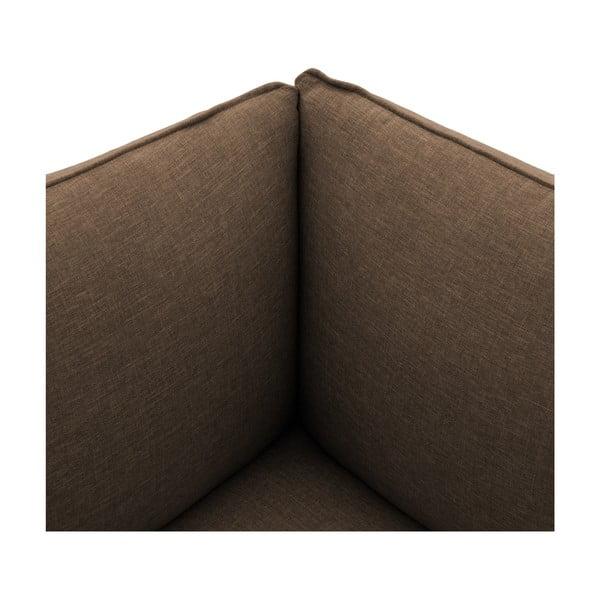 Tmavě béžové křeslo Vivonita Cube, levá strana