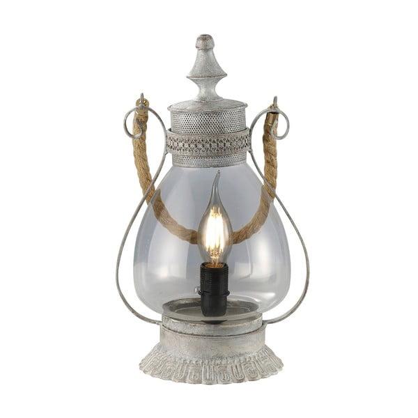 Stolní lampa Linda, šedá