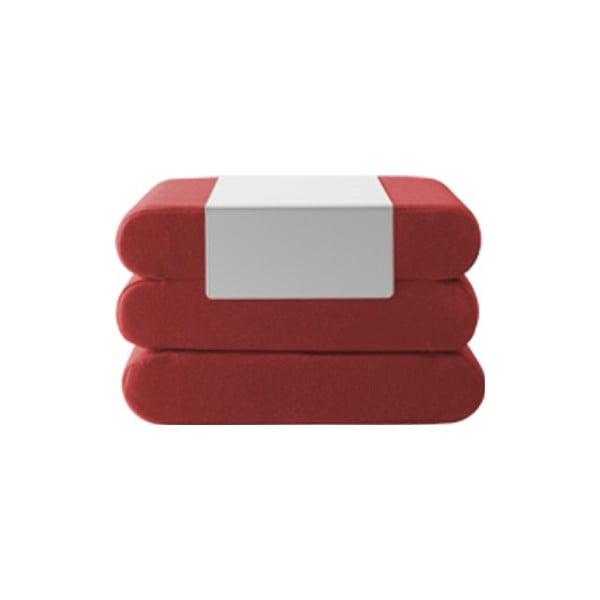 Červený rozkládací puf Softline Bingo Eco Cotton Red