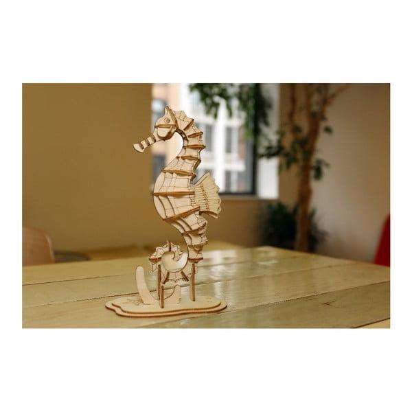 Puzzle 3D din lemn de balsa Kikkerland Seahorse