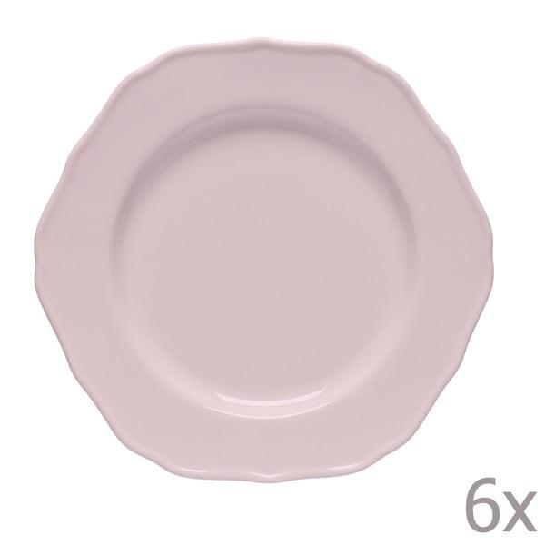 Sada 6 dezertních talířů Glamour Rosa
