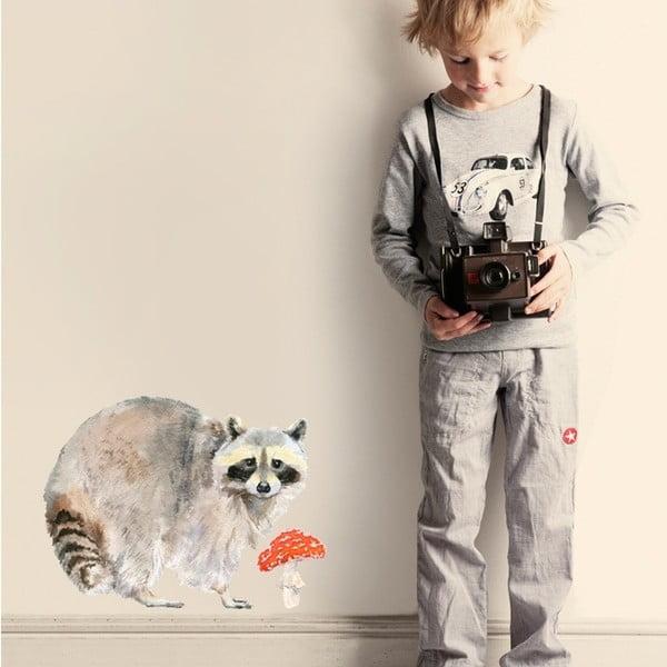 Znovu snímatelná samolepka Raccoon, 40x30cm