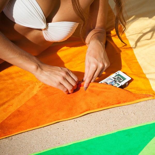 Designová plážová osuška Vertty Classic Orange