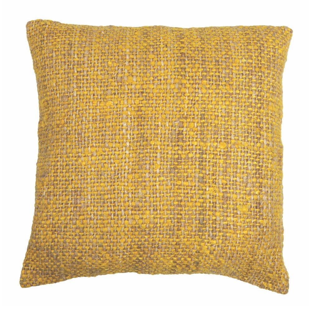 Žlutý povlak na polštář Tiseco Home Studio Chambray, 45 x 45 cm