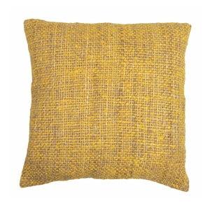 Žlutý polštář ZicZac Chambray, 45x45cm