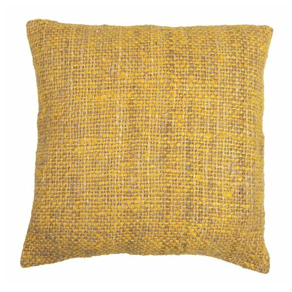 Żółta poszewka na poduszkę Tiseco Home Studio Chambray, 45x45 cm