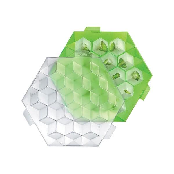 Zelená silikonová forma na led Lékué Ice Cube