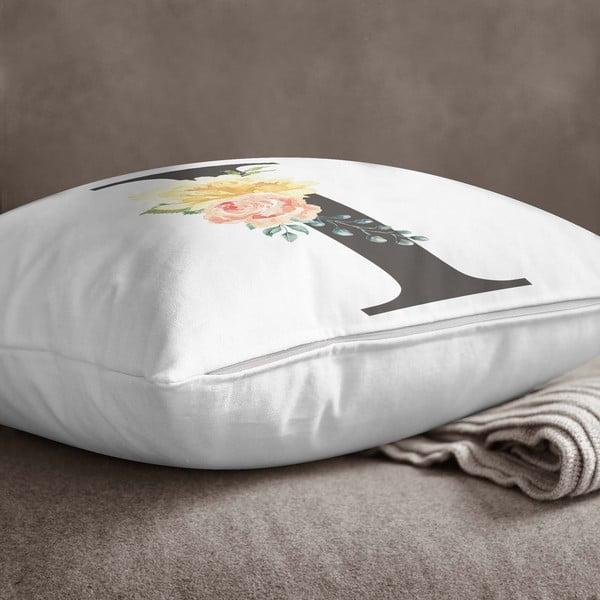 Față de pernă Minimalist Cushion Covers Floral Alphabet I, 45 x 45 cm