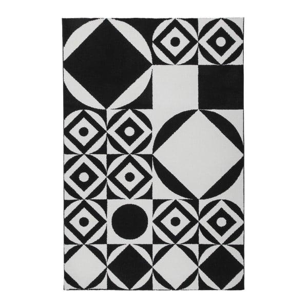Černobílý koberec Obsession My Black & White Ballo, 80 x 150 cm