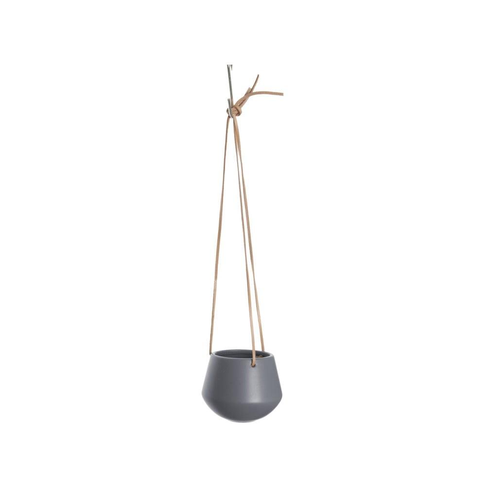 Šedý závěsný květináč PT LIVING Skittle, ⌀ 12,2 cm