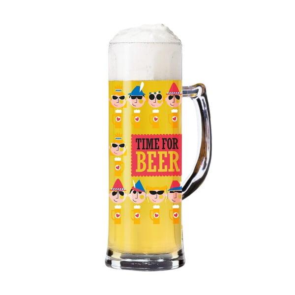 Set pahar din sticlă cristalină pentru bere și 5 suporturi pahare Ritzenhoff Julien Chung, 596 ml