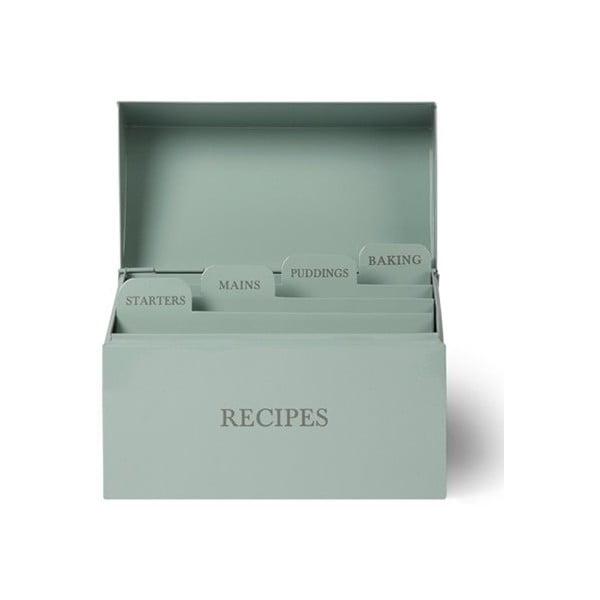 Box s přihrádami na recepty Shutter Blue