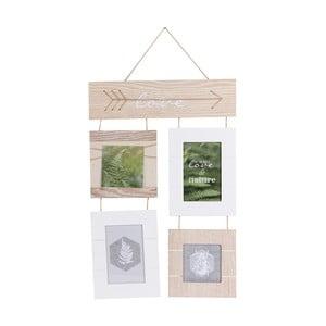 Dřevěný rámeček na čtyři obrázky Maiko Nature
