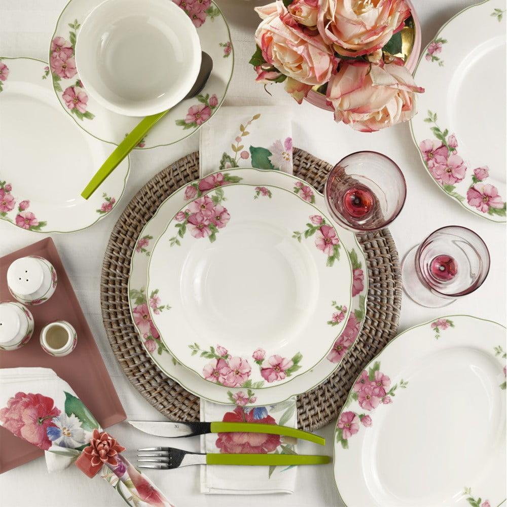 28dílná sada nádobí z porcelánu Kutahya Flora