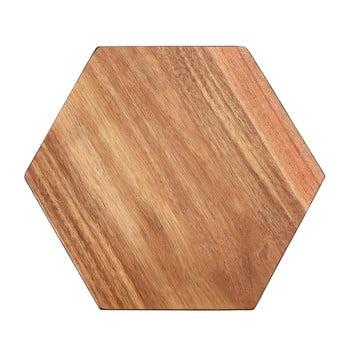 Tocător din lemn de acacia Premier Housewares Hexagon, 30 x 35 cm