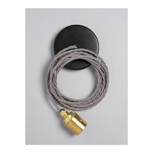 Závěsný kabel Brass Skirt Elephant Grey