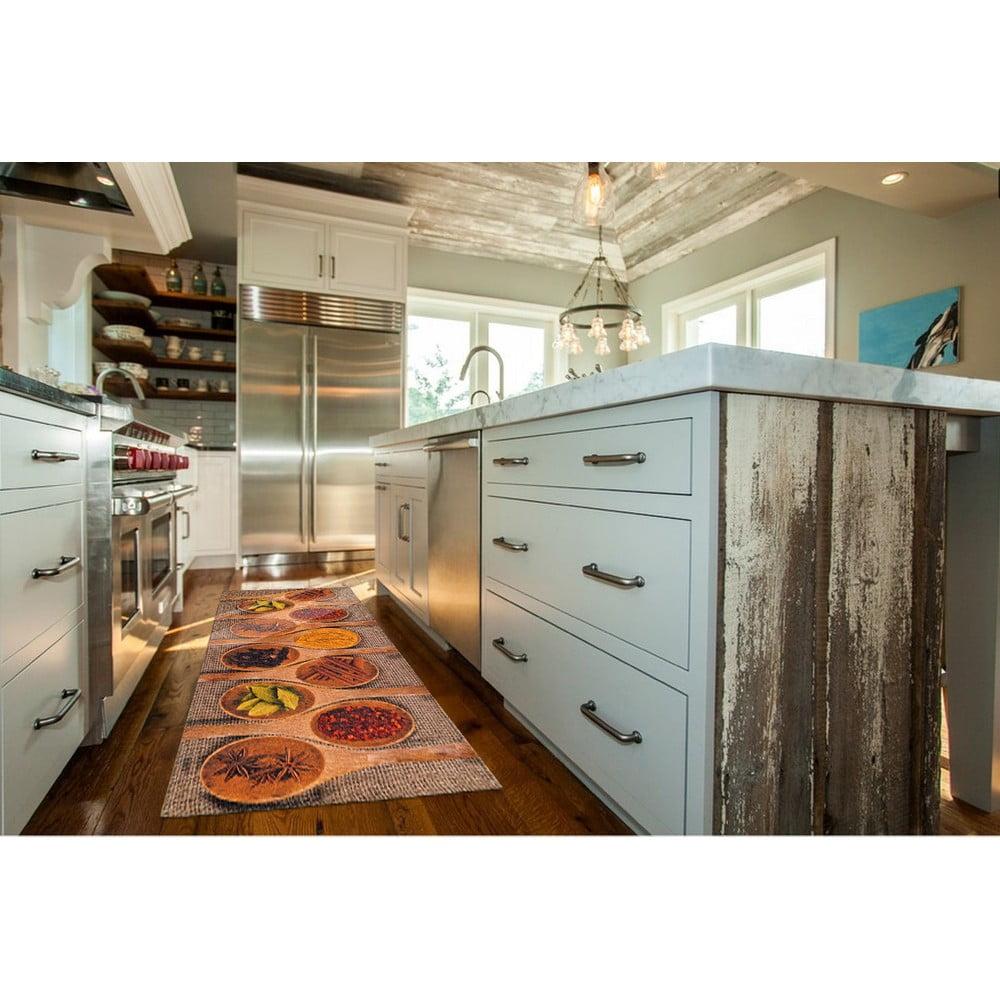 Vysoce odolný kuchyňský koberec Webtappeti Spices Market, 60 x 115 cm