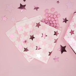Sada 25 papírových pytlíků na sladkosti Neviti Little Star Pink