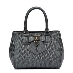 Černá kožená kabelka Luisa Vannini Lorena