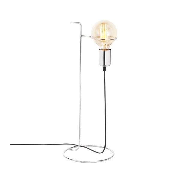 Kovová stolová lampa v chrómovej farbe Opviq lights Ersi