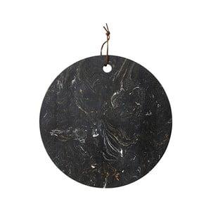 Tocător pentru servit, din piatră, Ladelle, ⌀ 30 cm, negru