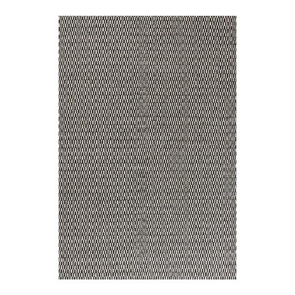Vlněný koberec Charles Black White, 140x200 cm