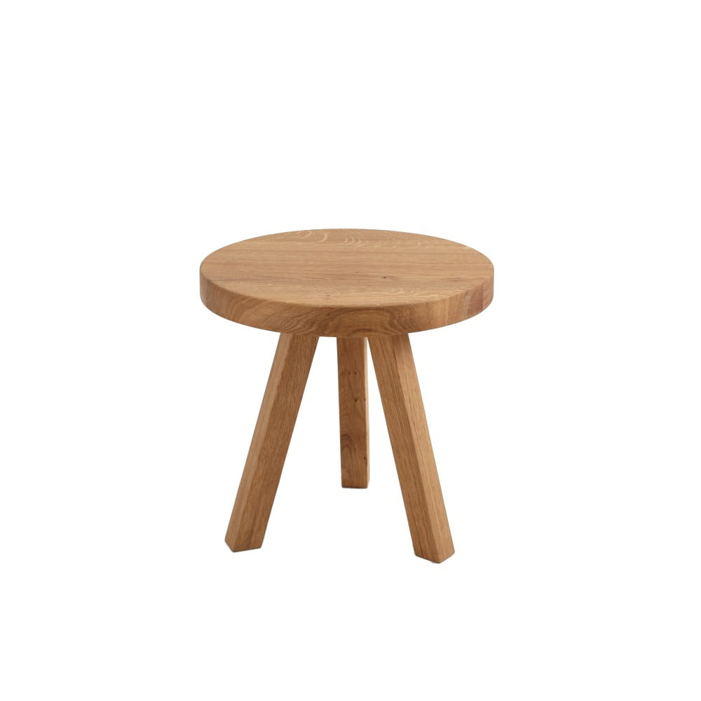 Odkládací stolek z dubového masivu Custom Form Treben, ø 40 cm