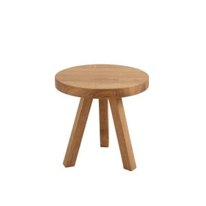 Măsuță auxiliară din lemn de stejar Custom Form Treben, diametru 40 cm