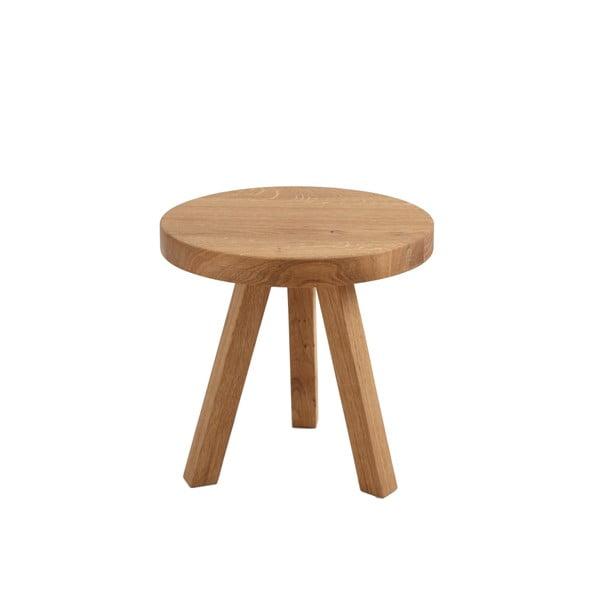 Odkládací stolek z dubového masivu Custom Form Treben, ø 40cm