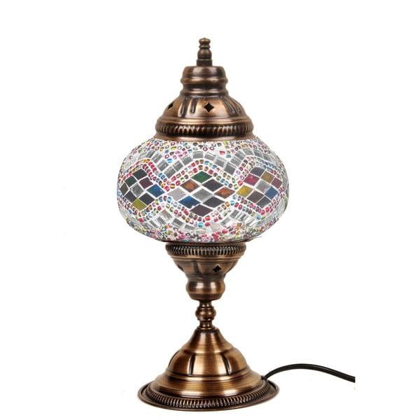 Skleněná ručně vyrobená lampa Taj Mahal, ⌀13cm