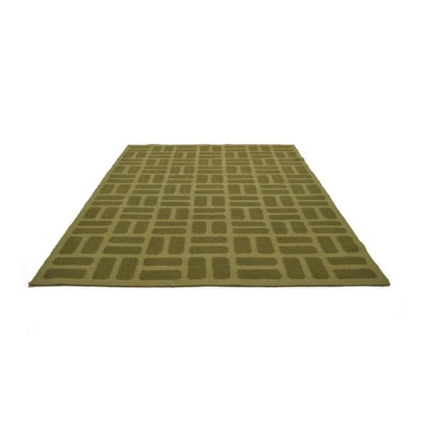 Ručně tkaný koberec Green Squares, 120x180 cm