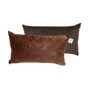 Sada 2 polštářů s výplní Karup Deco Cushion Choco/Choco,45 x 25 cm