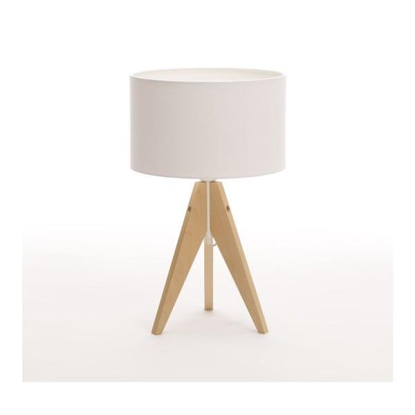 Bílá  stolní lampa 4room Artista, bříza, Ø 25 cm