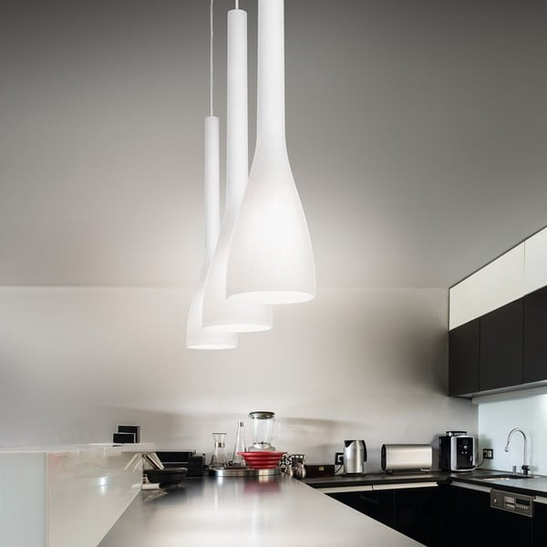 Závěsné svítidlo Evergreen Lights White Flute, 65 cm