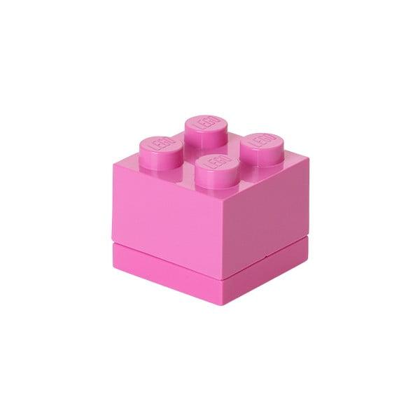 Ružový úložný box LEGO® Mini Box