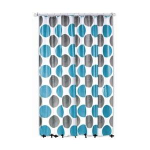 Sprchový závěs Lamara, šedý/tyrkysový, 180x200 cm