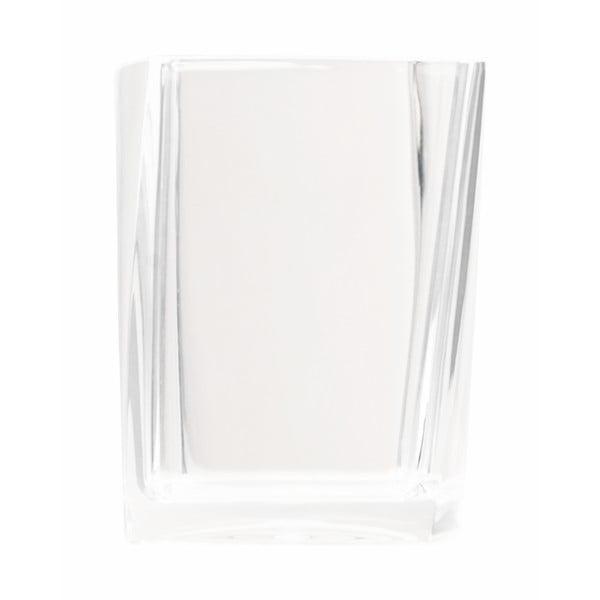 Dóza na kartáčky Transparent White
