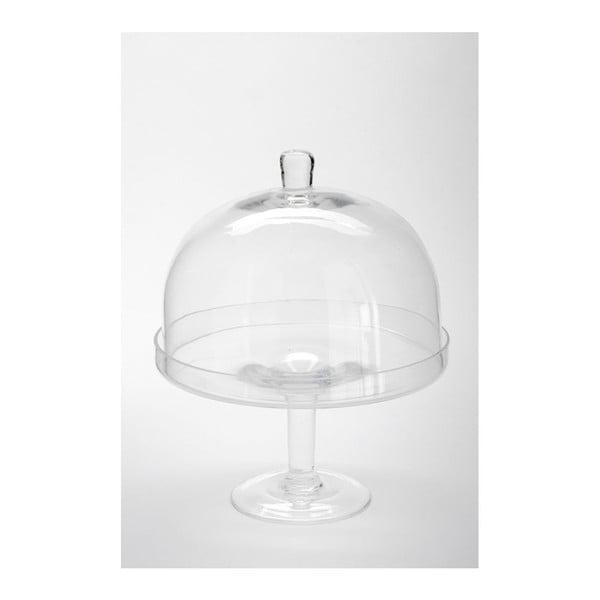 Skleněný podnos s poklopem Dome Knob, 25x32 cm