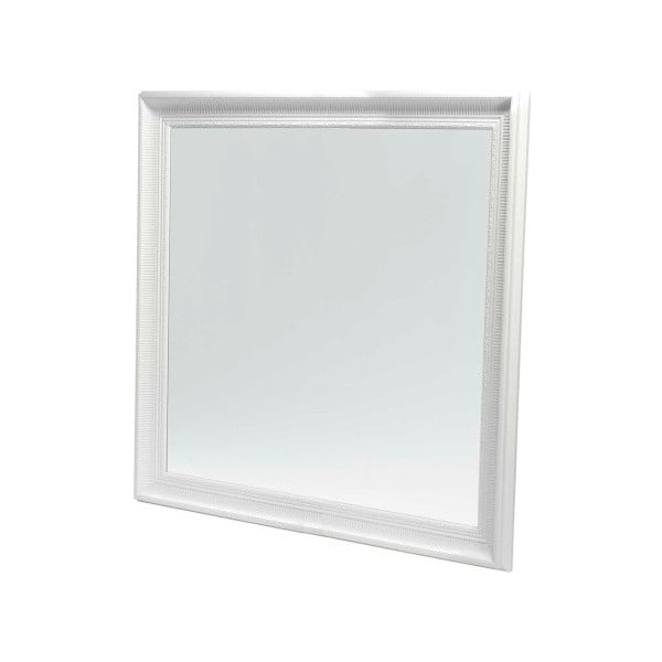 Nástěnné zrcadlo s bílým rámem Furnhouse Reflection,113x113cm