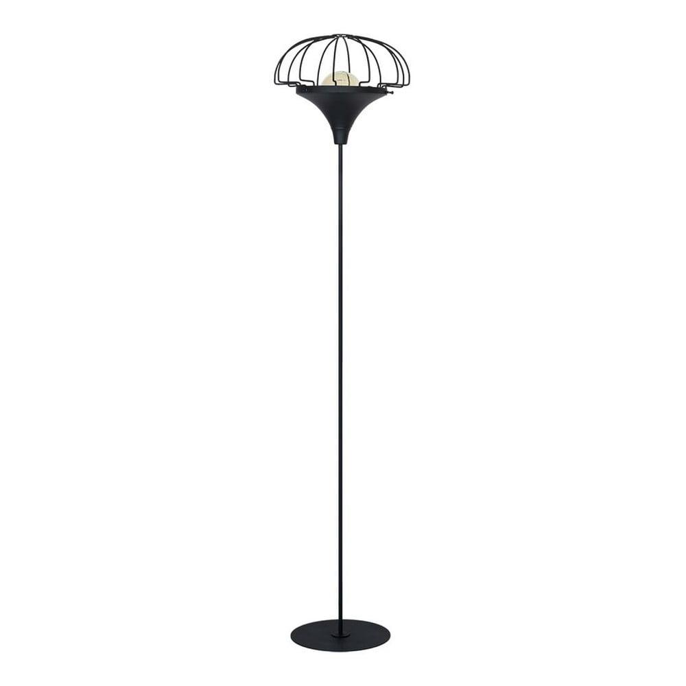 Černá volně stojící lampa Perseus Duro