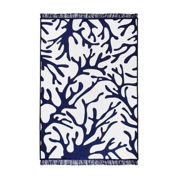 Covor reversibil Coral Reef, 140 x 215 cm, alb-albastru de la Cihan Bilisim Tekstil