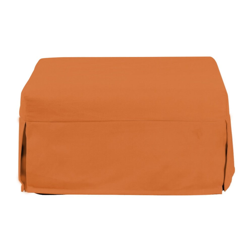 Oranžový rozkládací puf/lůžko 13Casa Evelin