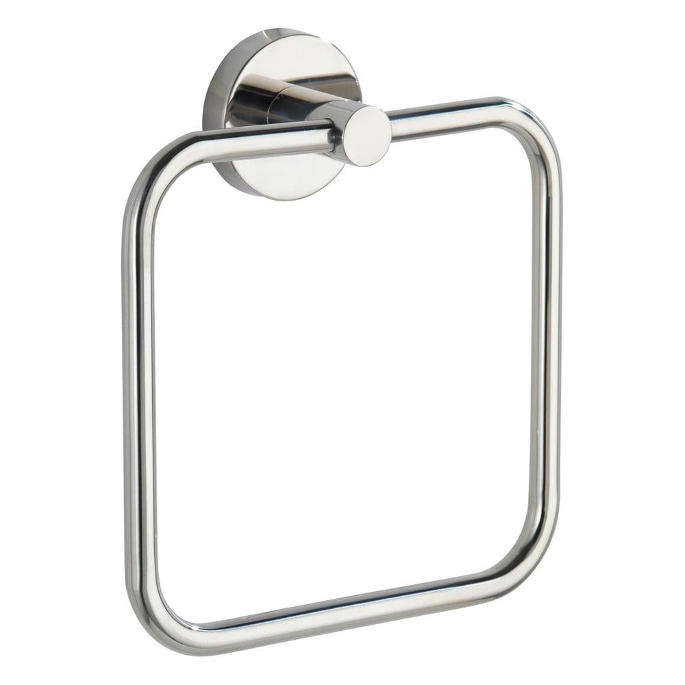 Produktové foto Nástěnný držák na ručníky z nerezové oceli Wenko Bosio Ring Shine