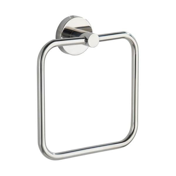 Suport de perete pentru prosoape din oțel inoxidabil Wenko Bosio Ring Shine