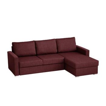 Canapea pe colț Florenzzi Platti, roșu închis